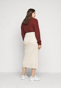 Glamorous Curve - MIDI SKIRT - Pencil skirt - stone - 2