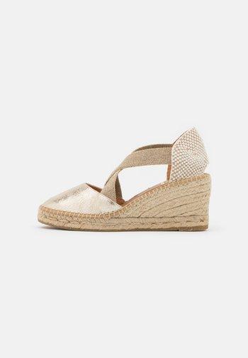 ANIA - Platform sandals - gold