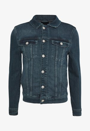 GREEN CAST MUSCLE FIT DENIM JACKET - Džínová bunda - mid blue