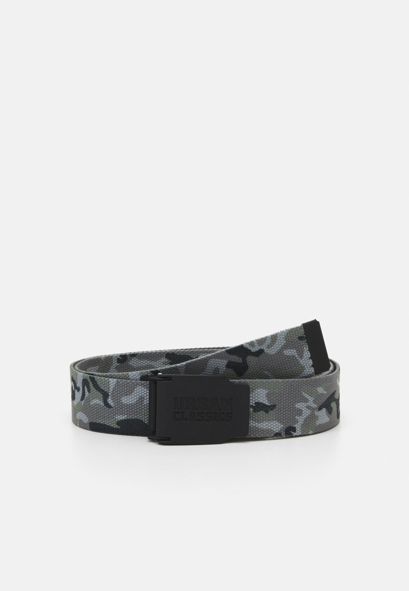Urban Classics - WOVEN BELT RUBBERED TOUCH UNISEX - Skärp - grey
