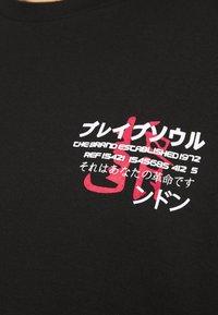 Brave Soul - FIRE - Print T-shirt - black - 6
