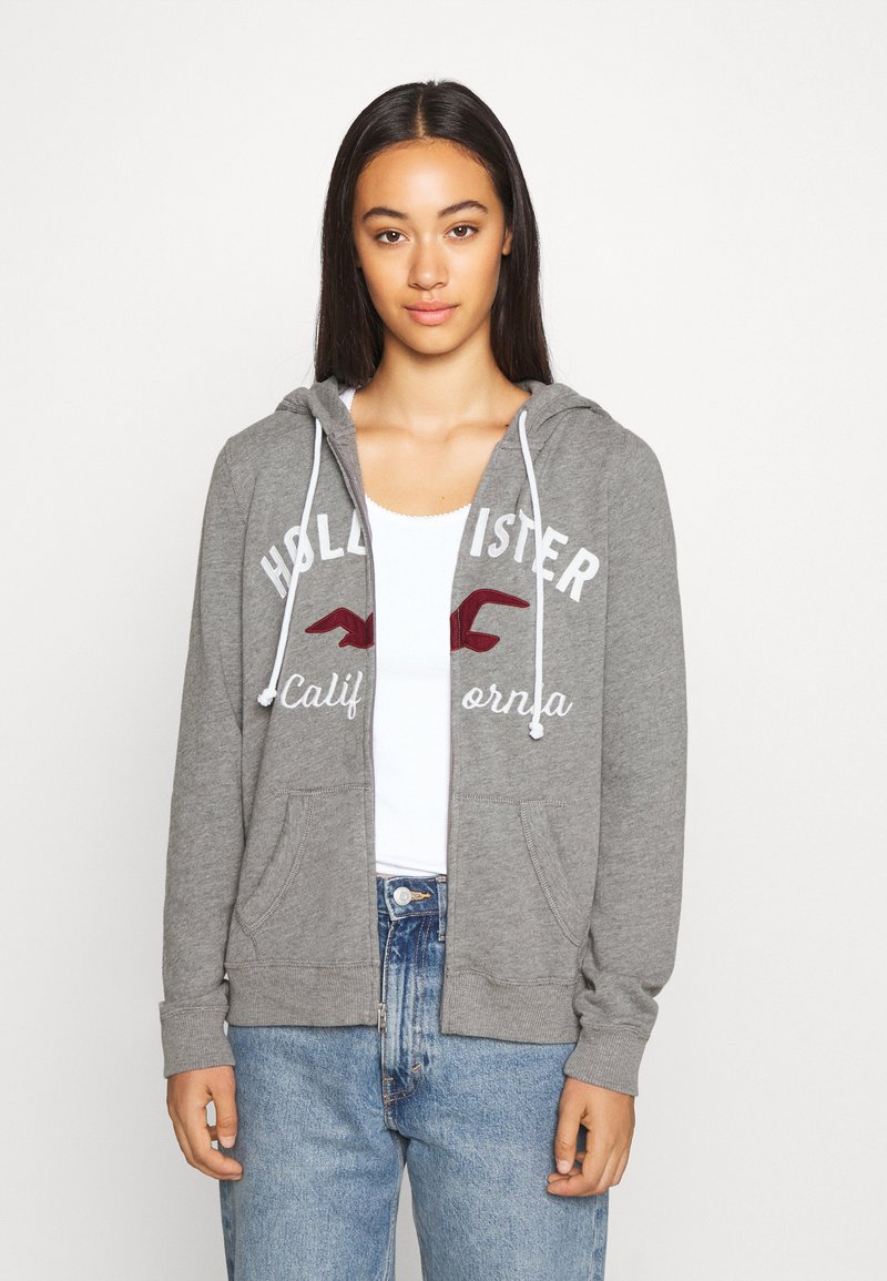 Hollister Co. - TERRY TECH CORE - Mikina na zip - grey