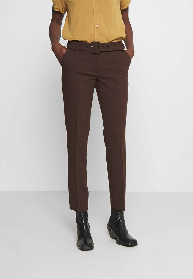 TROUSER - Pantaloni - chocolate