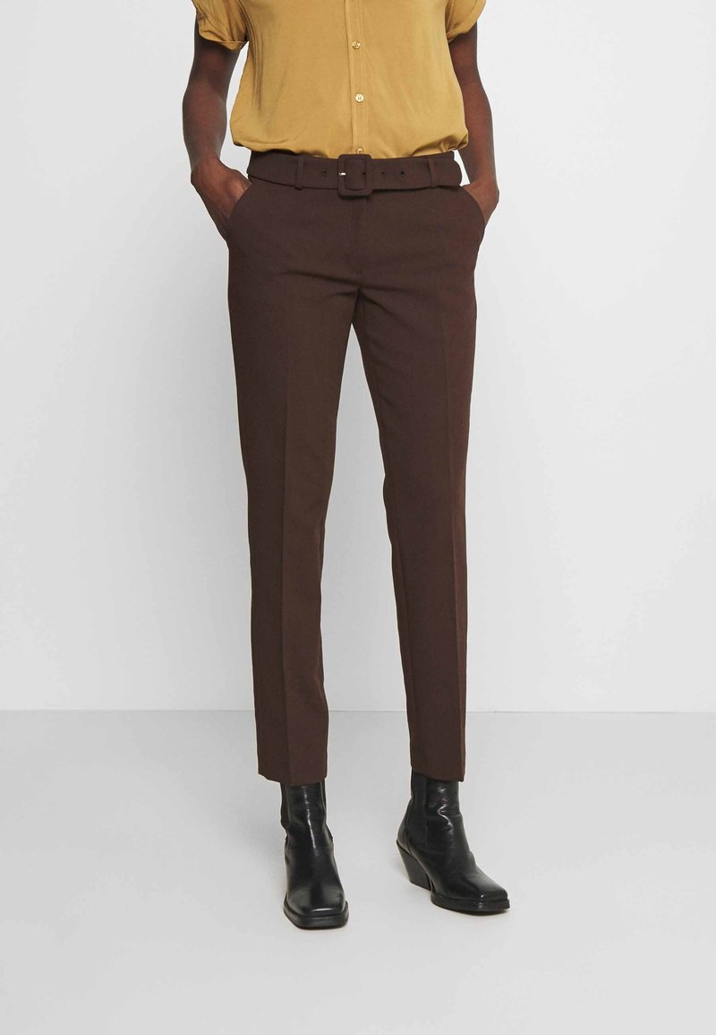 More & More - TROUSER - Trousers - chocolate
