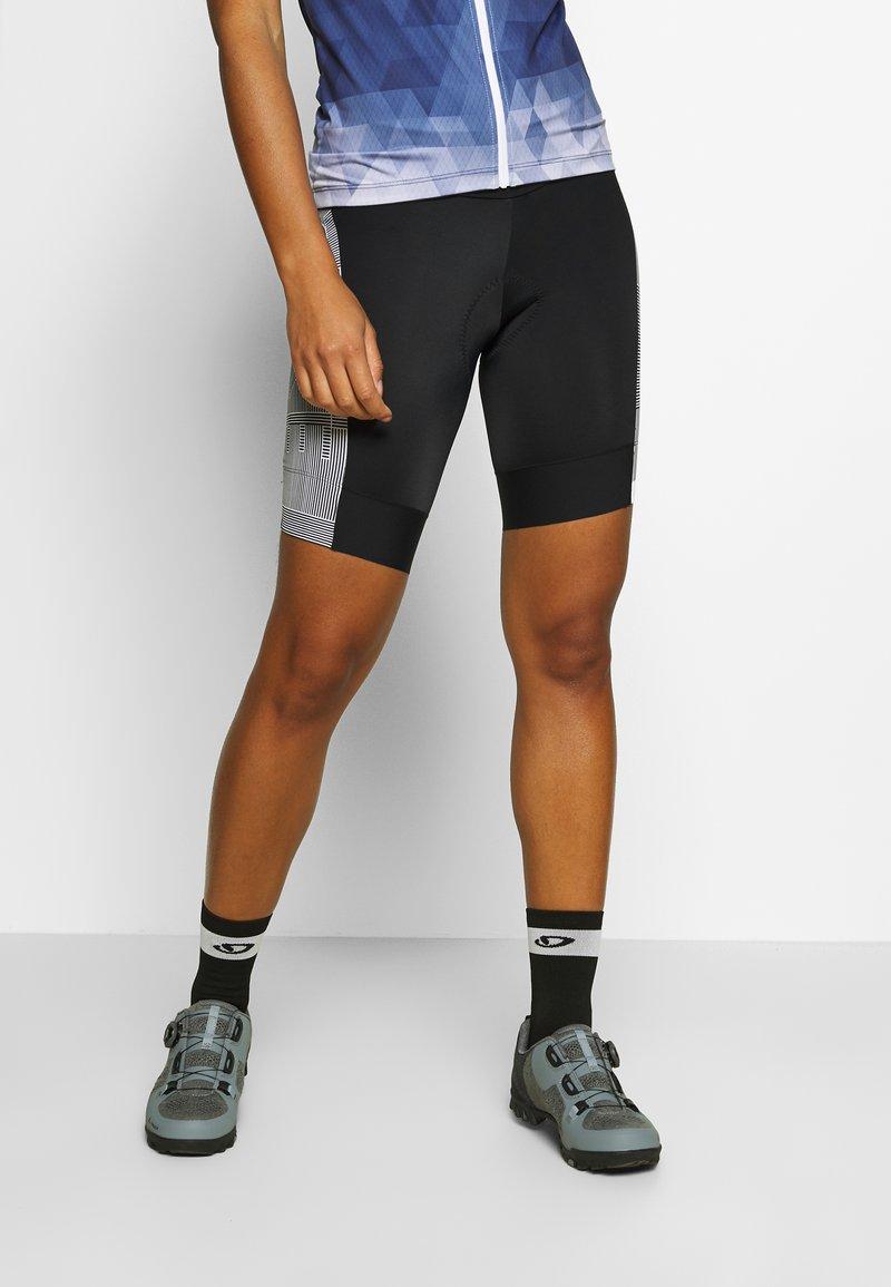 Gore Wear - DAMEN LINE KURZ - Tights - black/white