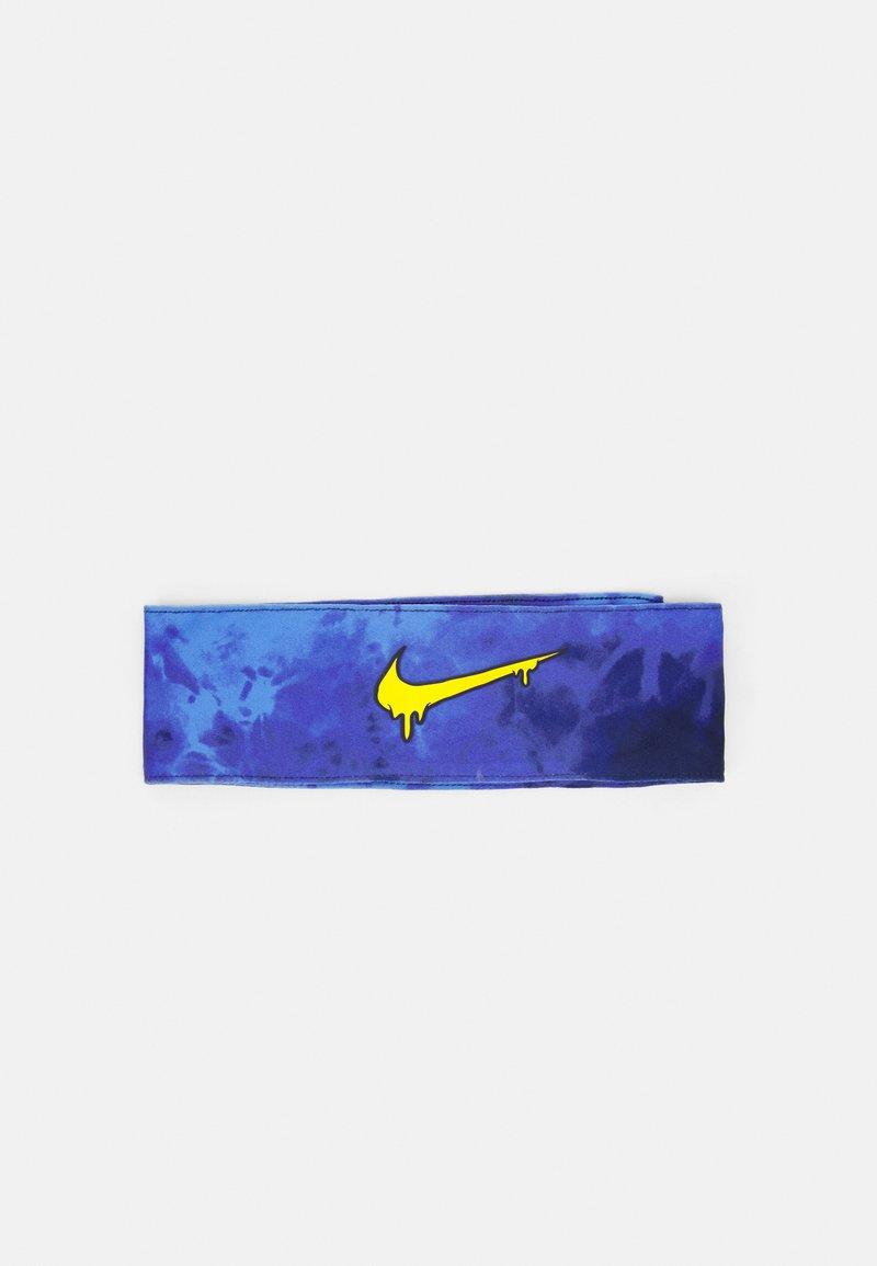 Nike Performance - ERA EXPL HEAD TIE - Ear warmers - blue void/speed yellow