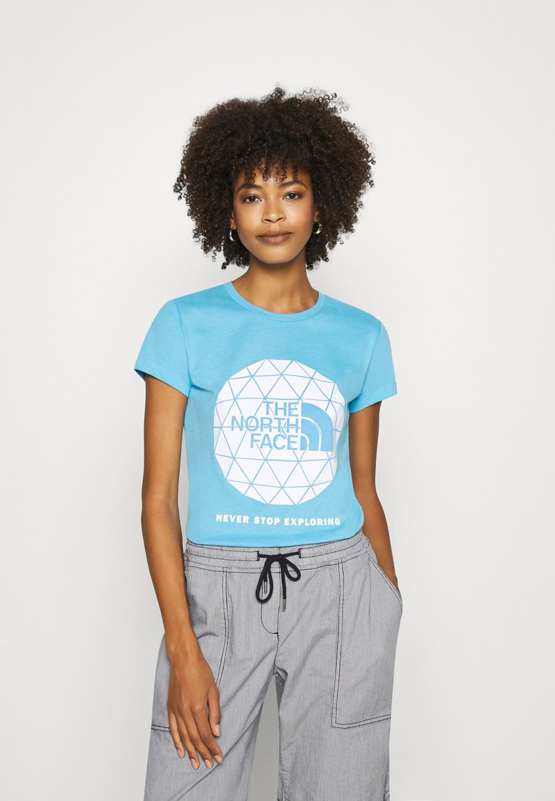The North Face - GEODOME TEE - Print T-shirt - ethereal blue