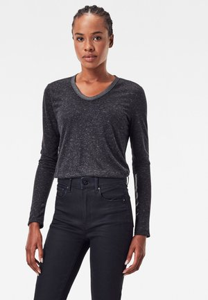 NEPPY U LONG SLEEVE - Long sleeved top - dk black