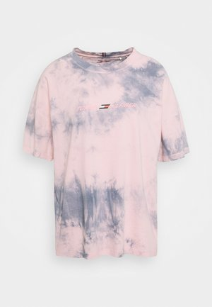 RELAXED TIE DYE - Print T-shirt - pink