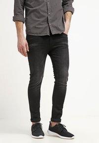 Pier One - Jean slim - black denim - 0