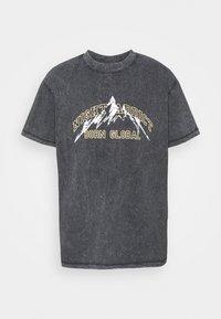 Night Addict - KIETH UNISEX - T-shirt con stampa - black acid wash - 5