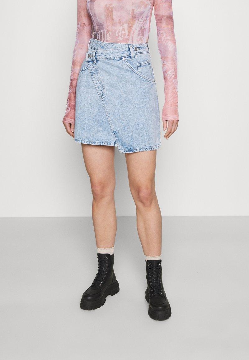 Monki - Mini skirt - light blue