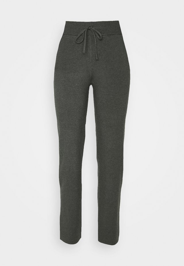 COMFY LOUNGE KNIT TROUSER - Trousers - mottled dark grey