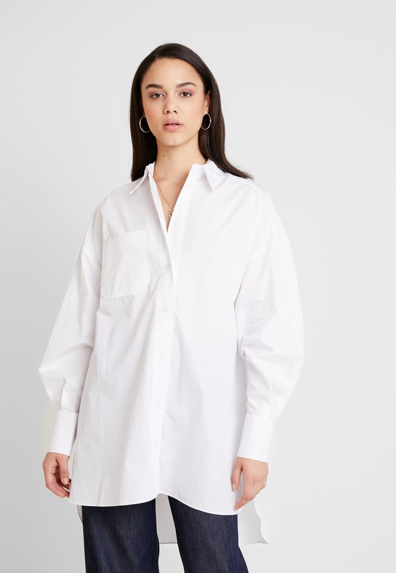 Topshop - OVERSIZED - Button-down blouse - white