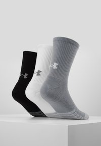 Under Armour - HEATGEAR CREW 3 PACK - Calcetines de deporte - steel/white