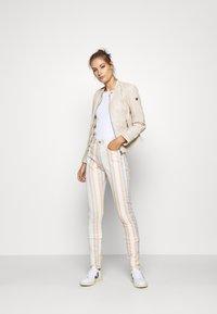Gipsy - GGNIDEL LAMAS - Leather jacket - off white - 1