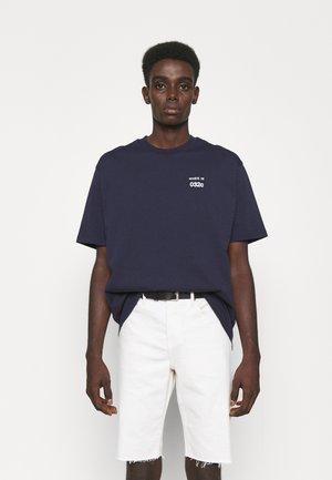 032C X ZALANDO UNISEX - Print T-shirt - navy