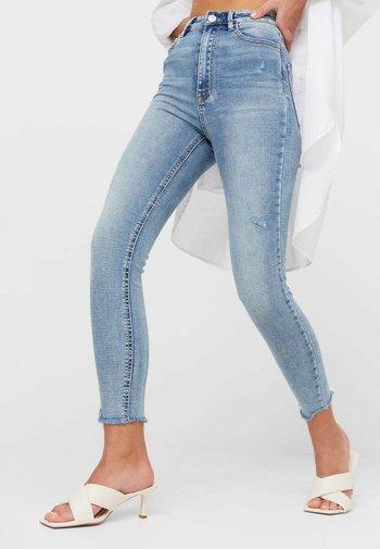 MIT SEHR HOHEM BUND UND KNOPFLEISTE  - Jeans Skinny Fit - blue