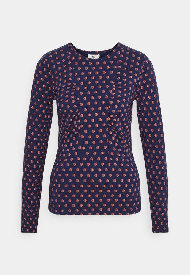 PRINTED - Maglietta a manica lunga - blue