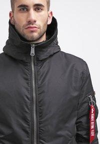 Alpha Industries - HOODED STANDART FIT - Light jacket - black - 4