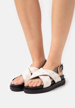 CORTINA MARA  - Korkeakorkoiset sandaalit - offwhite