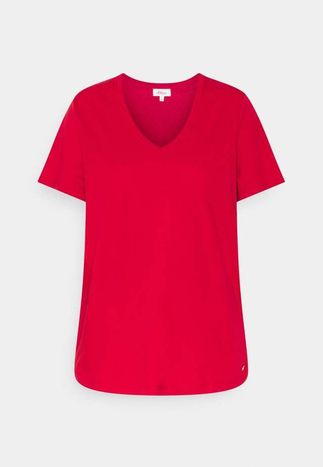 T-shirt basic - true red