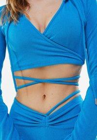 Bershka - Hoodie - blue - 3