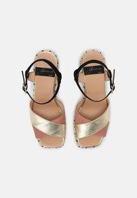 Gaimo - CORDELIA  - Sandals - salmon/gold/black - 4