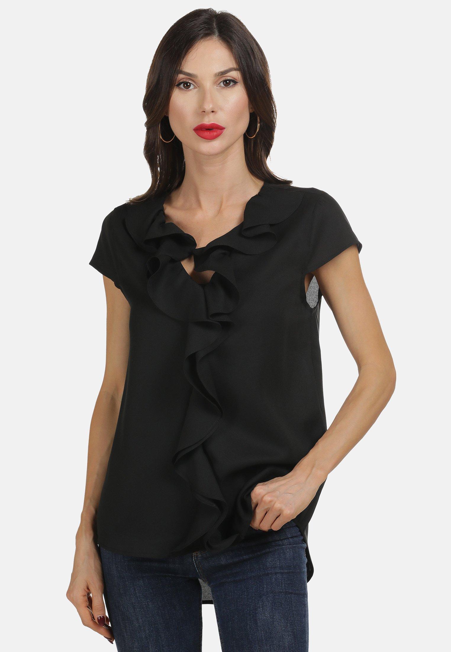 Hot Sale Women's Clothing faina BLUSE Blouse schwarz CBHUIvXJG