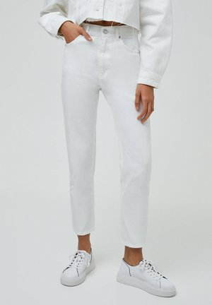 BASIC - Relaxed fit jeans - white