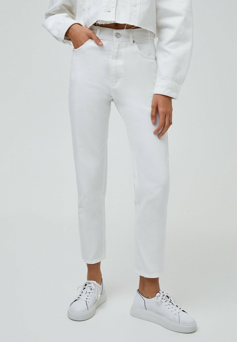 PULL&BEAR - MOM - Relaxed fit jeans - white