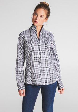MODERN CLASSIC - Button-down blouse - schwarz/weiss/pink