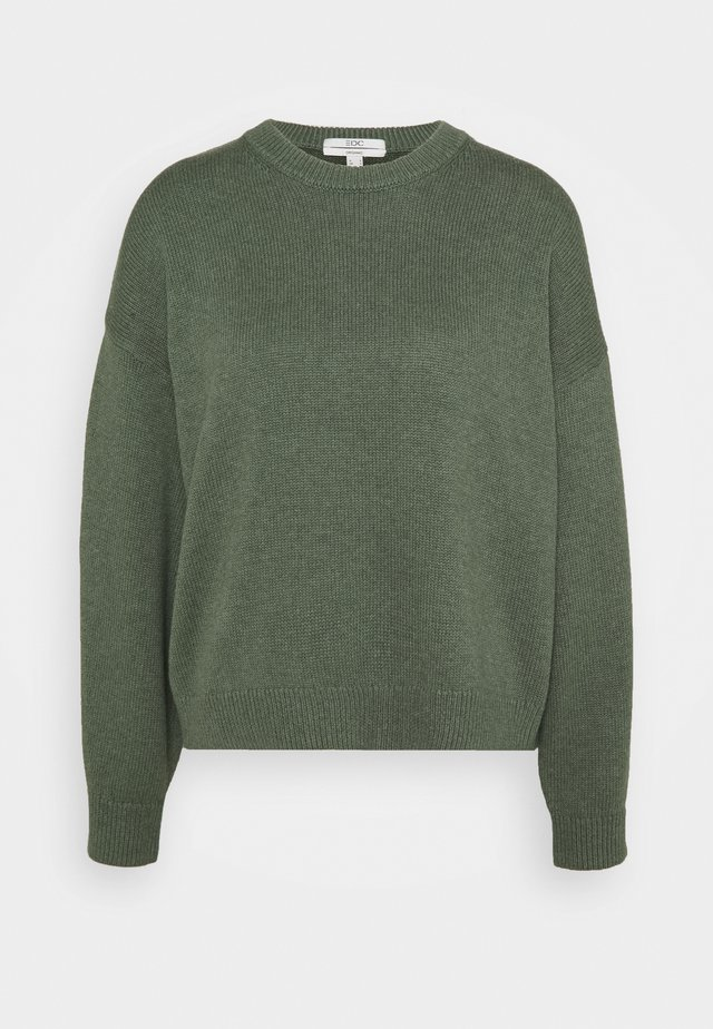CREW NECK - Strikkegenser - light khaki