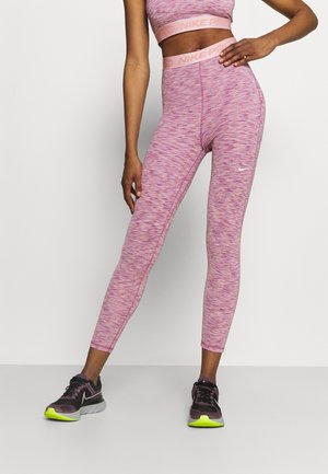 CROP - Tights - sweet beet/pink glaze/white