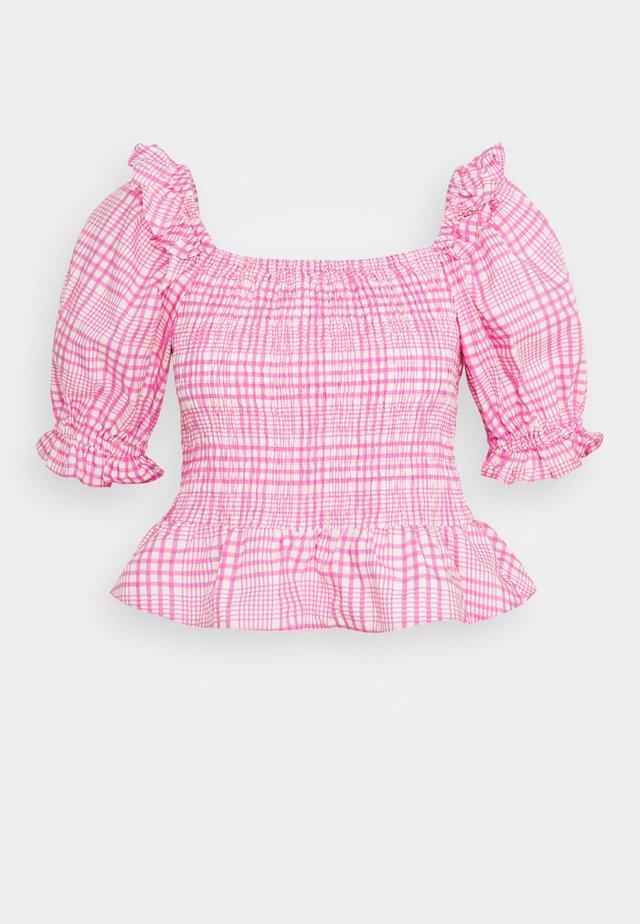 SHIRRED DETAIL - Blouse - pink
