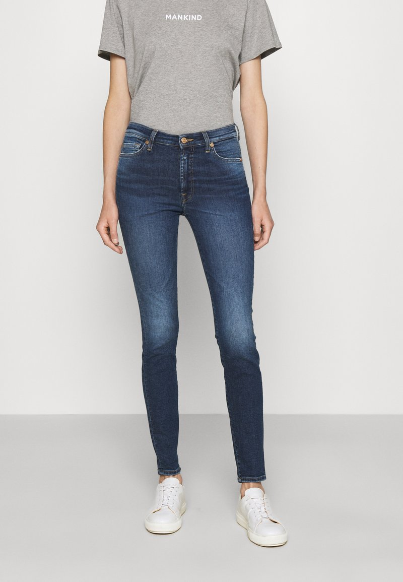 7 for all mankind - ILLUSION ABOVE - Jeans Skinny Fit - mid blue