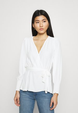 SHIRRED CUFF WRAP - Blouse - ivory