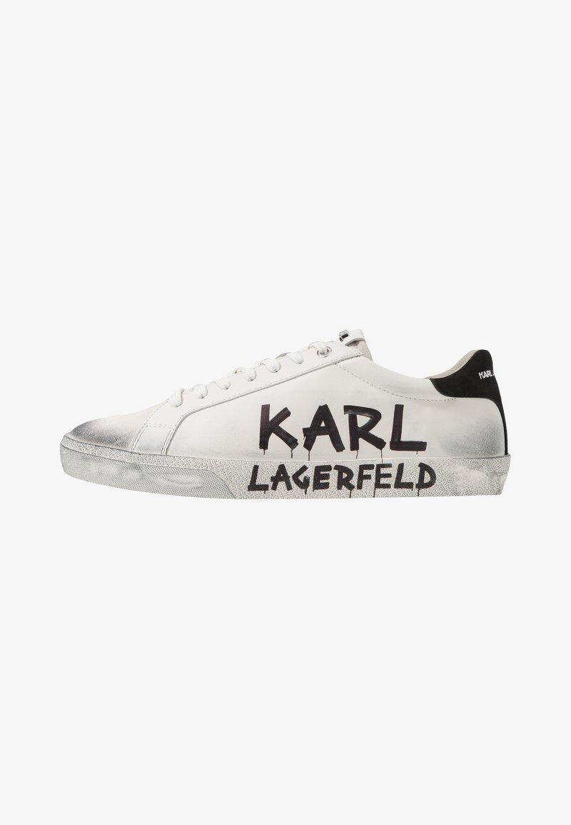 KARL LAGERFELD - SKOOL BRUSH LOGO LACE - Trainers - white