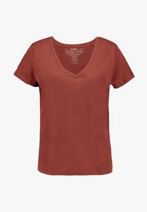 THE DEEP  - Basic T-shirt - cherry mahogany