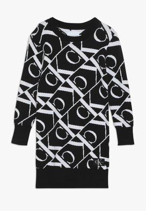 MONOGRAM DRESS - Pletené šaty - black