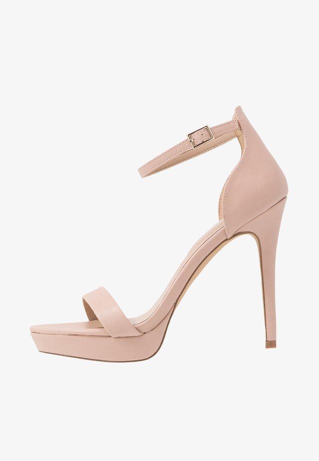 MADALENE - High heeled sandals - bone multicolor