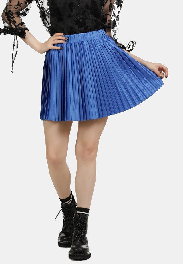 ROCK - Plisovaná sukně - blue