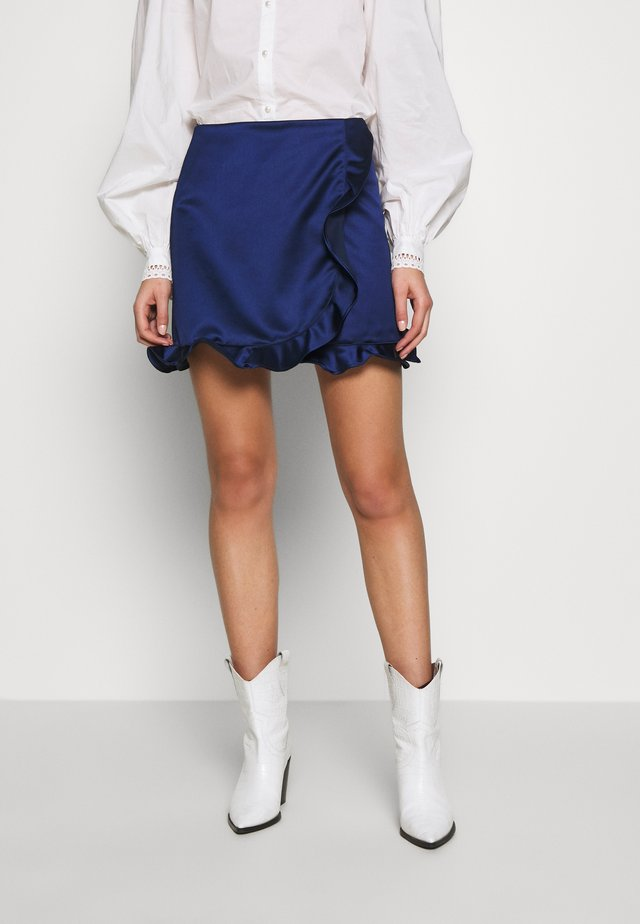TILLY SKIRT - Mini skirt - estate blue