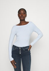 Zign - Long sleeved top - blue/white - 0