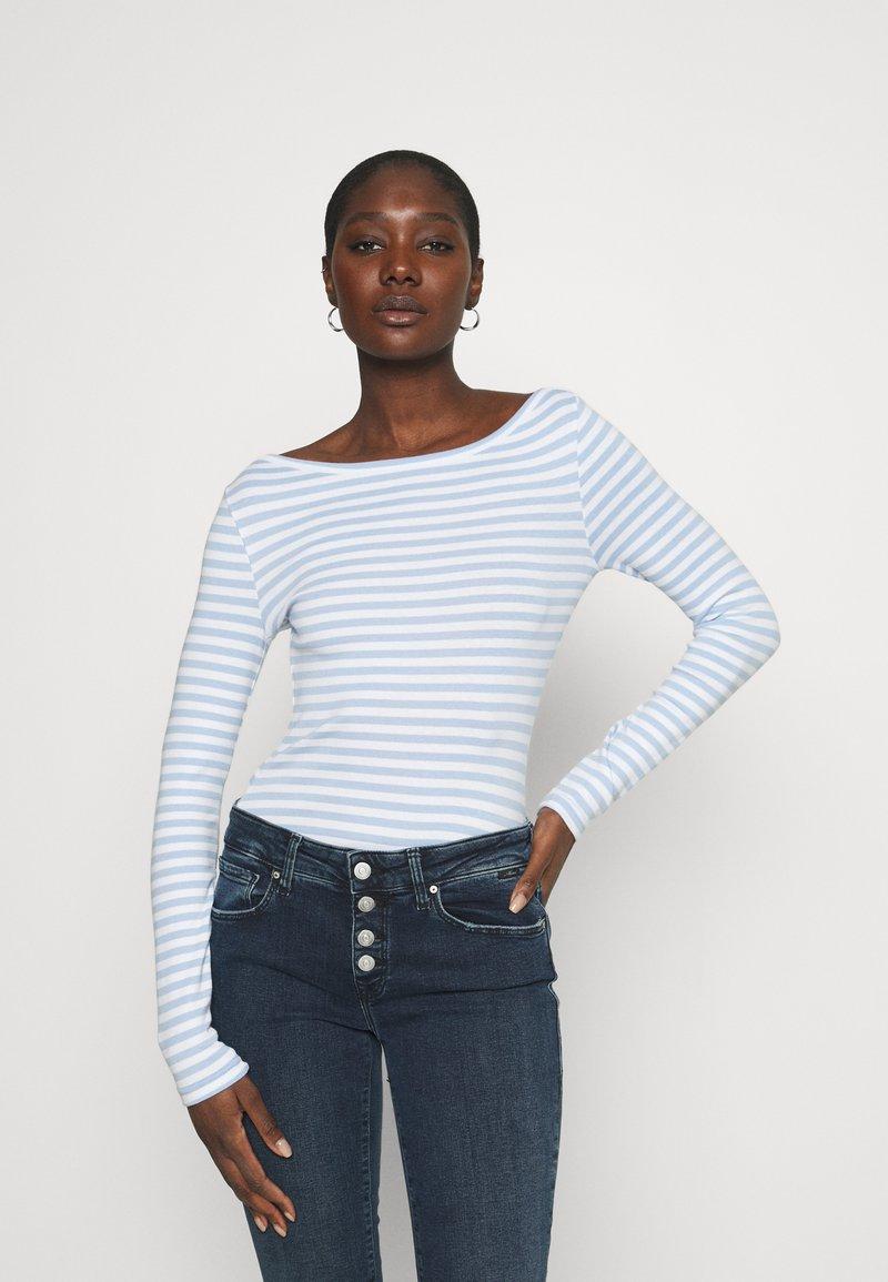 Zign - Long sleeved top - blue/white