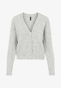 YAS - Cardigan - light grey melange - 4