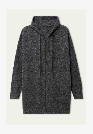 Zip-up sweatshirt -  grey/black blend