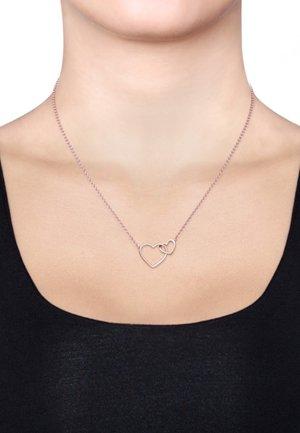 HERZ UNENDLICHKEIT LIEBE  - Necklace - rose gold-coloured