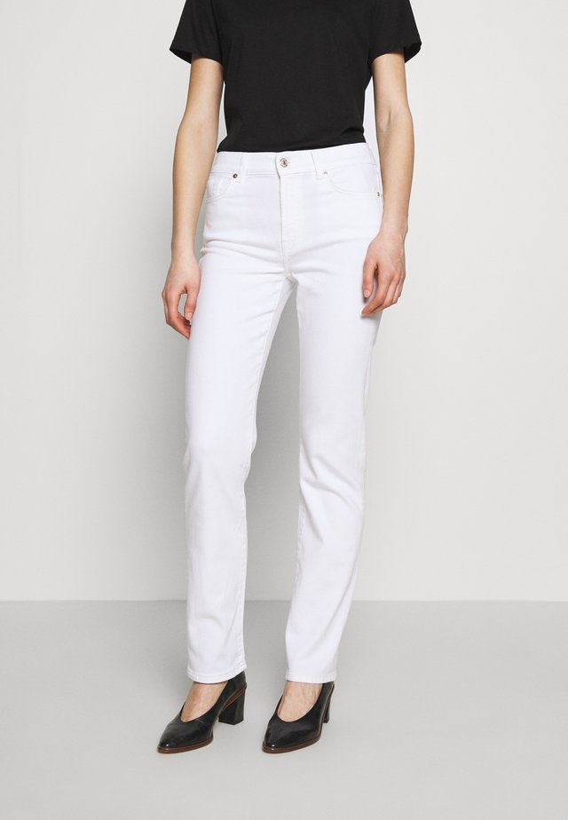 THE STRAIGHT - Straight leg jeans - white