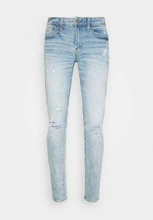 LIGHT DESTROY WASH - Jeans slim fit - iced light indigo